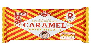 TUNNOCK´S Caramel Wafer Buscuits (8 stk) 240 gr