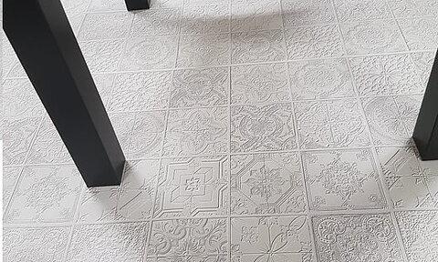 dekorplast mosaik vit