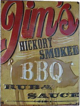 """BBQ-skylt """"Jims BBQ"""""""