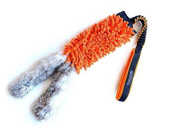 Mopp-kampleksak med kaninskinn & expander