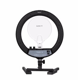 NANLITE HALO14 LED RING LIGHT WITH CARRYING CASE