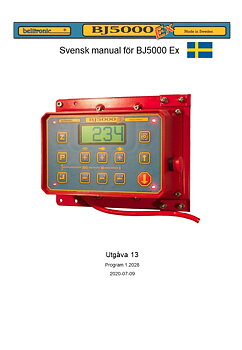 Instruktionsbok BJ5000 Ex