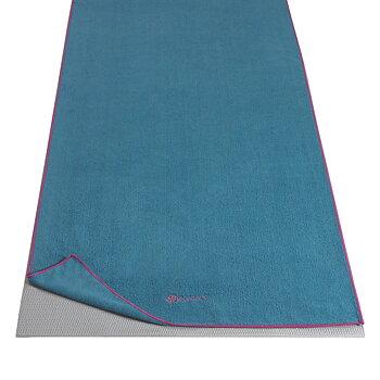YOGA MAT TOWEL - VIVID BLUE/FUCHSIA