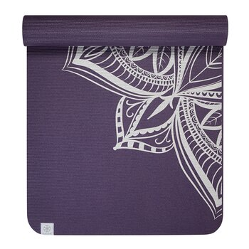 GAIAM 6MM YOGA MAT AUBERGINE MEDALLION