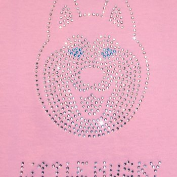 Little Husky Strass Kinder-T-Shirt in Rosa