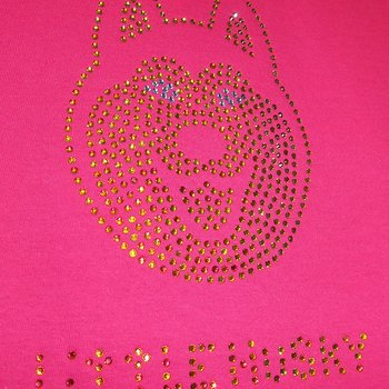 Little Husky Strass T-shirt till barn i pink