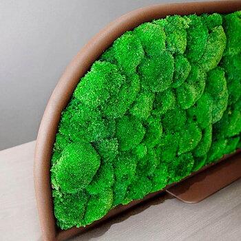 G-DESK MOSS bordsskärm med konserverad mossa