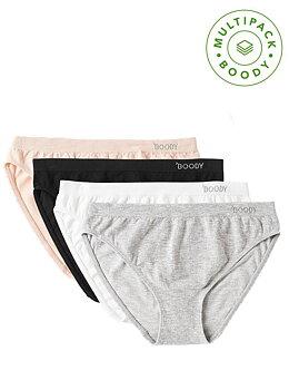4-pack Women's Classic Bikini Underwear, Mixed, Boody Bamboo Eco Wear, Ekologisk