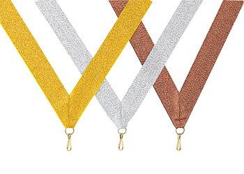 Medaljband Långt 800x22 mm  - Guld/Silver/Brons