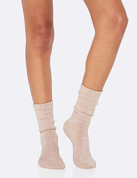 Women's Chunky Bed Socks, Dusty Pink, Boody Bamboo Eco Wear, Ekologisk - Storlek 34-40