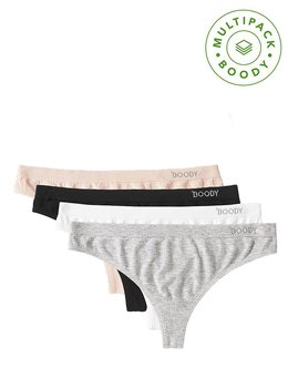 G-String 4-pack, Mixed, Boody Bamboo Eco Wear, Ekologisk