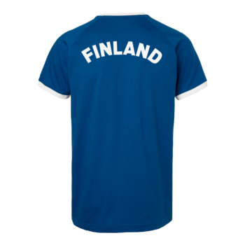 T-shirt Finland OHIO - Unisex - South West Everywear - EKO & GOTS - Blå/Vit