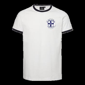 T-shirt Finland OHIO - Unisex - South West Everywear - EKO & GOTS - Vit/Blå