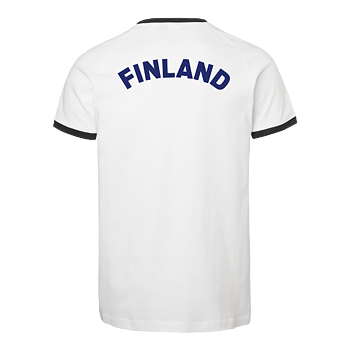 Finland Supporter T-shirt OHIO, Unisex, White/Blue, South West, Organic & GOTS