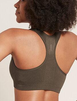 Racerback Sports Bra, Dark Olive, Boody Bamboo Eco Wear, Organic