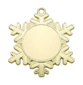 Medaljer Snowflakes 50 mm - Pris inklusive medaljband, motiv och valfri text på baksidan