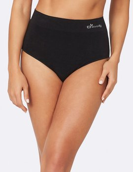 Women's Full Briefs Underwear, Black, Boody Bamboo Eco Wear, Ekologisk