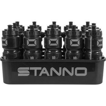 Flaskställ DE LUXE Inklusive 12 stycken Sportflaskor 750 ml - Stanno - Svart