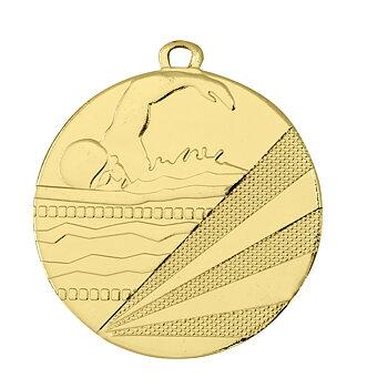 Medaljer Präglade 50 mm - Simning - Pris inklusive valfri text på baksidan