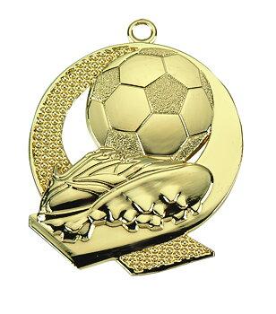 Fotbollsmedalj präglad Neutral 43x50 mm - Pris inklusive medaljband och valfri text på baksidan