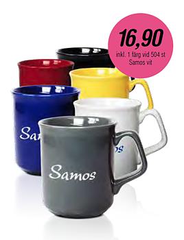 Stengodsmugg Samos 30 cl - 6 olika muggfärger - Offereras