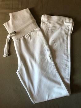 Ladies Yoga Pants, White, Neutral, Fairtrade & EKO  GOTS