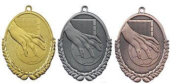 Medaljer Präglade ovala 50x30 mm - Handboll - Pris inklusive valfri text på baksidan