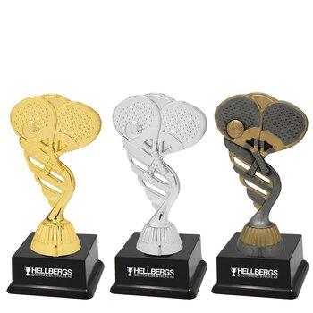 Padel statyett Guld/Silver/Antik - Inklusive skylt med text - 3 olika storlekar