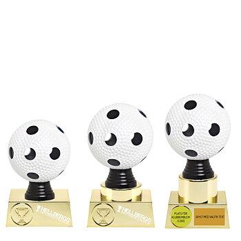 Statyett Innebandy Multi/Guld Sport Trophies - Inklusive skylt med text - 3 olika storlekar