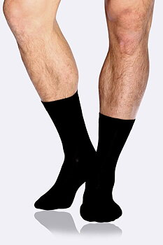 Men's Business Socks, Black, Boody Bamboo Eco Wear, Organic - One Size 39-45