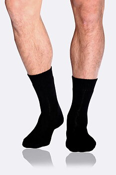 Men's Work/Boot Socks, Black, Boody Bamboo Eco Wear, Ekologisk  - Storlek: 39-45