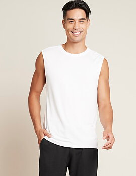 Men's Active Muscle Tee, White, Boody Bamboo Eco Wear, Organic