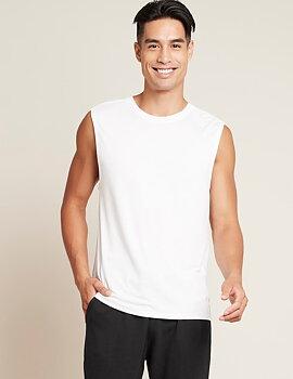 Ärmlös Tränings t-shirt Muscle - Herr - Boody Bamboo Eco Wear - EKO  - Vit