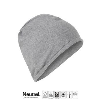 Beanie tunn - Neutral - Fairtrade, EKO, GOTS - Grå
