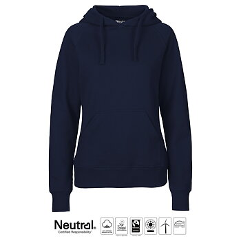 Hoodie - Dam - Neutral - Fairtrade & EKO GOTS - Navy