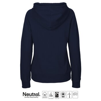 Ladies Hoodie Neutral, Navy, Fairtrade & EKO GOTS