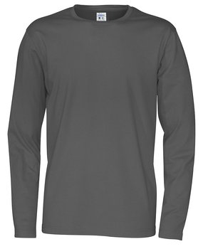 T-shirt Long Sleeve Man, Cottover, Charcoal, Fairtrade & Ekologisk GOTS