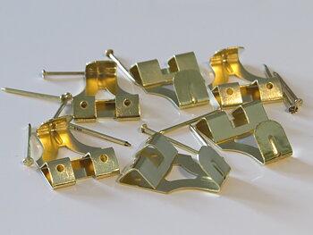 X-HOOK DOUBLE BRASS 6PCS + 12PCS NAIL