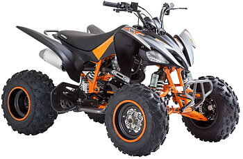 VIARELLI AGREZZA ATV 250CC MATTSVART/ORANGE