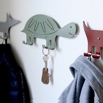 Wall Hook Turtle Green