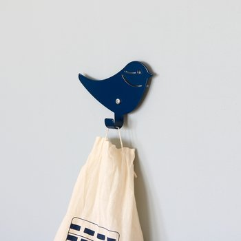 Wall hook bird blue