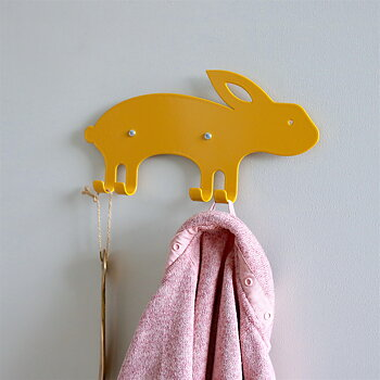 Wall Hook Rabbit Yellow