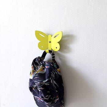 Wall Hook Butterfly Yellow
