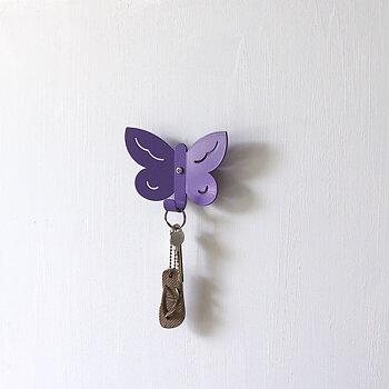 Wall Hook Butterfly Purple