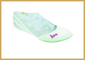 Halvtå sko Hvit skinn