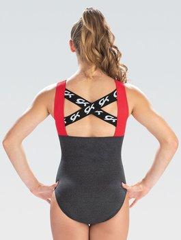 Gymnastikdräkt i polyester/spandex
