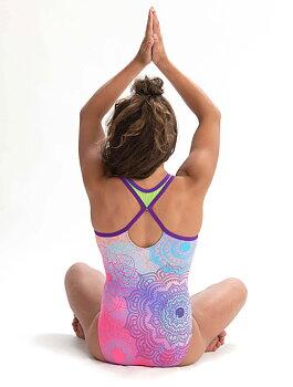"""Katelyn Ohashi Gymnastikdräkt """"Mandala Madness"""" sublimerat tyg & nylon/spandex"""
