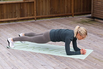 Träningspaket: Träningsmatta, fitnessband och glidplattor