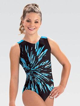 Gymnastikdräkt sublimerat tyg & nylon/spandex