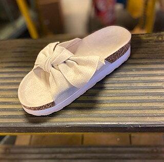 Slip in Sandal Beige